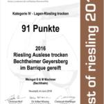 Riesling Auslese Geyersberg Barrique
