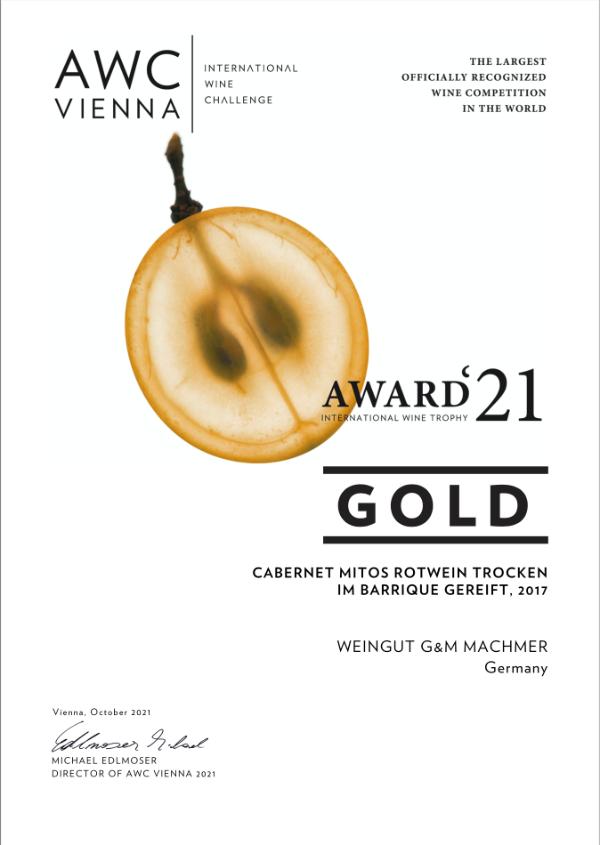 Weingut Machmer Auszeichnung - AWC-Cabernet Mitos Rotwein Trocken Barrique