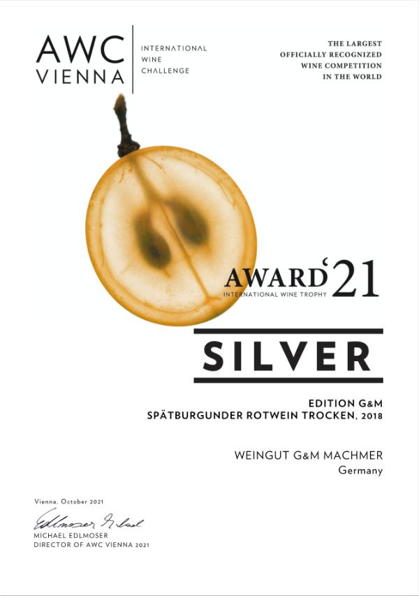 Weingut Machmer Auszeichnung - AWC-Spätburgunder Rotwein Trocken