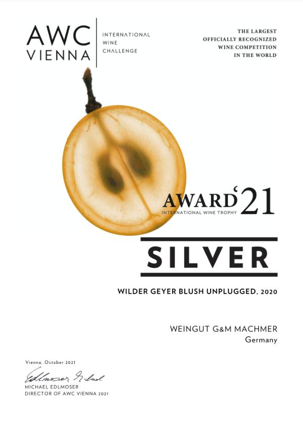 Weingut Machmer Auszeichnung - AWC-Wilder Geyer Blush Unplugged