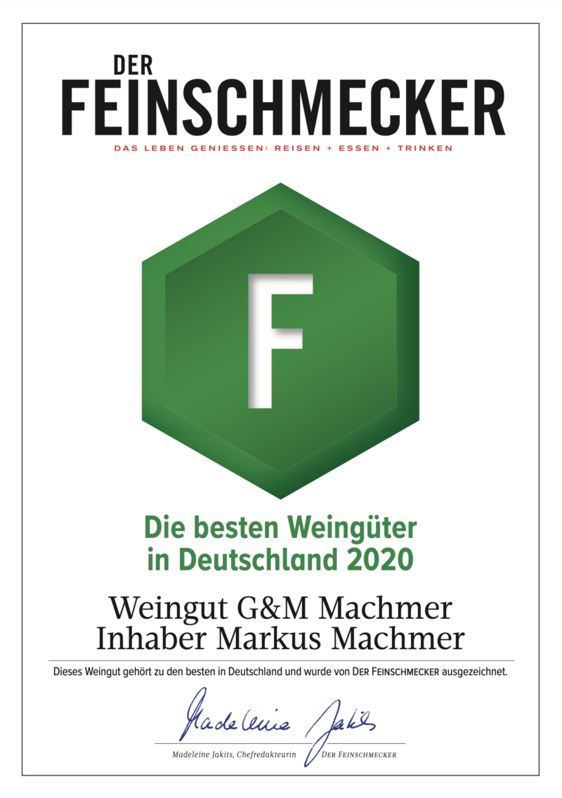 Weingut Machmer - Der-Feinschmecker Auszeichnung 2020