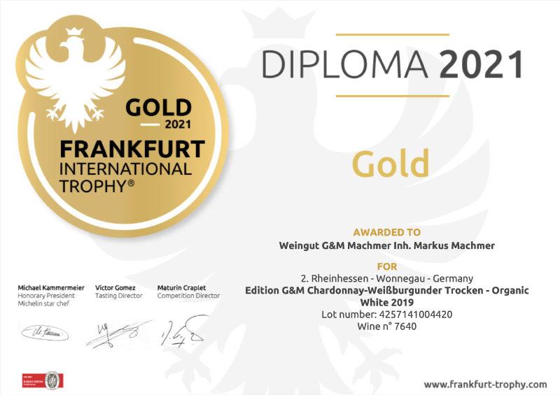 Weingtu Machmer - Franfurt-Trophy-Chardonnay-Weißburgunder-trocken-Gold